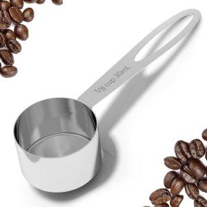 BEST Coffee scoop - 2 Tablespoon Exact - Stainless Steel Measuring Spoon by Coffee Gator - Premium Coffee Accessories (Medium, Stainless Steel)