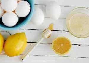 Egg whites with lemon juice