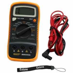 Estone BM500A 1000V 1999M Digital Insulation Resistance Tester Meter Megohmmeter
