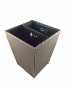 Hospitality Source Recycling Waste Bin, Standard, Dark Brown
