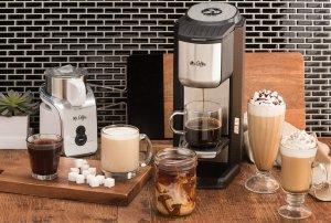 Mr. Coffee BVMC-SCGB200 Single Cup Coffeemaker with Built-In Grinder, Black