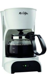 Mr. Coffee DR4MC 4-Cup Coffeemaker, White