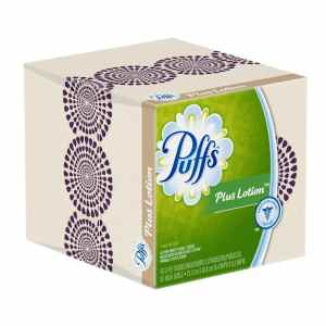 Puffs Plus Lotion Facial Tissues, 24 Cube Boxes (56 Tissues Per Box)