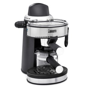 Steam Espresso Coffee Machine with Steam Wand for Frothing Milk for Cappuccinos and Lattes, Cup Warming Plate and 4 Cup Glass Carafe
