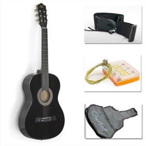 38 Black Acoustic Guitar Starter Package