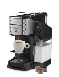 Cuisinart EM-600 Buona Tazza Superautomatic Single Serve Espresso Caffe Latte Cappuccino Machine, Black
