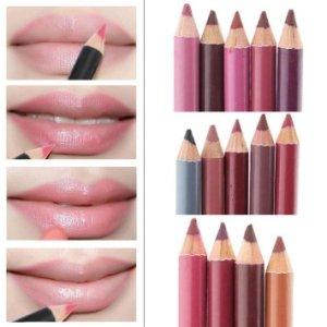 Datework Women's Professional Lipliner Waterproof Lip Liner Pencil 15CM 12 Colors Per Set Hot 2016