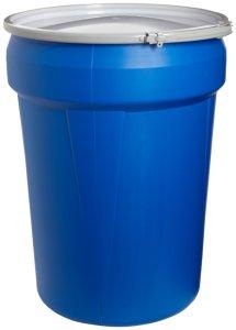 Eagle 1601MB Blue High Density Polyethylene Lab Pack Drum with Metal Lever-lock Lid