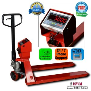 New Prime Scales PS-5000PJ Pallet Truck Scale Pallet Jack Scale 5000x1lb Low Profile