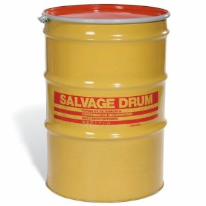 SKOLNIK Carbon Steel Open Head Salvage Drum, 85 gallons, Bolt Ring, 1.5mm Body Gauge (Pack of 1)
