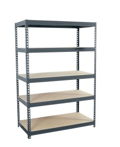 Sandusky Lee CR4824 Gray Steel Boltless Rivet Particle Board Shelving