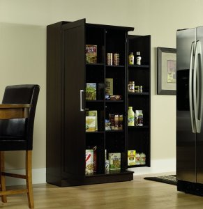 Sauder Homeplus Dakota Oak Storage Cabinet Swing Out Doors