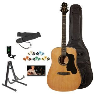 Sawtooth ST-ADN-KIT-3 Acoustic Guitar with Black Pickguard - Includes Accessories, Gig Bag and Online Lesson
