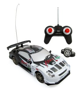 Super Fast Drift King RC Sports Car Remote Control Drifting Race Car 124 + Headlights