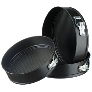 3 Piece Non-Stick Springform Cake Pan Set