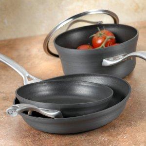 Calphalon Contemporary Hard-Anodized Aluminum Nonstick Cookware, Omelette Pan, 8-inch
