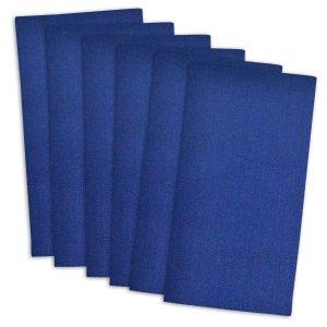 DII 100% Cotton, Oversized Basic Everyday 20x 20 Napkin, Set of 6, Nautical Blue