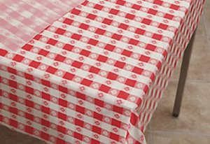Hoffmaster 114001 Plastic Tablecover Roll, 300' Length x 40 Width, Red Gingham