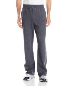 Jerzees Men's Black Adult Open Bottom Sweatpants