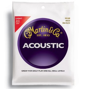 Martin M140 Bronze Acoustic Guitar Strings, Light
