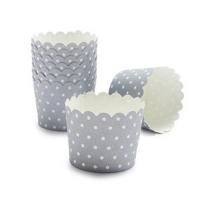 Paper Eskimo Baking Cup, Silver Sundae Spot