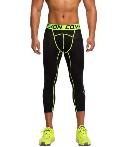 Showtime Printed Men's Compression Leggings Three-Quarter Tights
