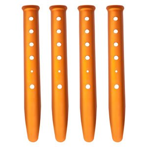 Bluecell 4pcs Orange Color Aluminum Tent Stakes for Camping in Snow