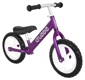 Cruzee UltraLite (4.2 lbs) Balance Bike 12 For Ages 18 Months to 5 Years (Purple)