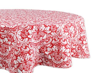 DII 100% Cotton, Machine Washable, Everyday Damask Kitchen Tablecloth For Dinner Parties, Summer & Outdoor Picnics