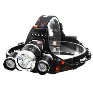InnoGear 5000 Lumen Bright Headlight Headlamp Flashlight Torch 3 CREE XM-L2 T6 LED