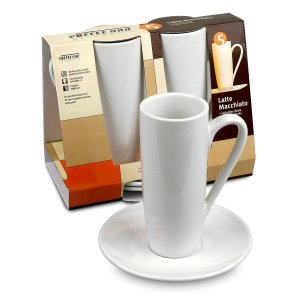 Konitz Coffee Bar Latte Macchiato CupsSaucers, Set of 2