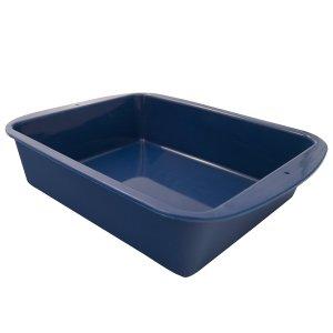 Marathon Housewares KW200015BL Premium Silicone Deep Dish Casserole Pan, Blue