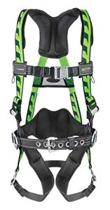 Miller Titan by Honeywell AC-TBUGN AirCore Full Body Harness, LargeX-Large, Green