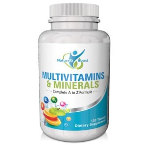 Multivitamin for Men and Women by Nature's Boost - Multivitamin with Iron, Vitamin D, and Biotin - Daily Multivitamin Tablet Supplement - No Artificial Flavors and Gluten Free, 120 Count