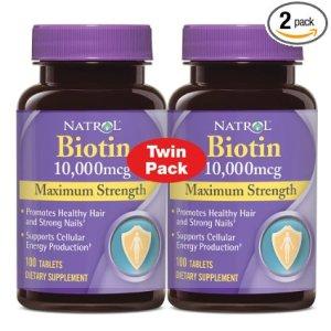 Natrol Biotin 10,000 mcg Maximum Strength Tablets, 100 Count