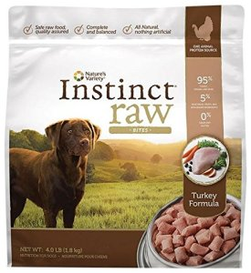 Nature's Variety Instinct Raw Frozen Bites for Dogs - Turkey Formula - 4lb