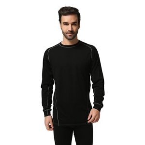 Sportown®Men's Merino Wool Lightweight Long Sleeve Crew Base Layer Top