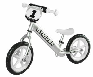 Strider - 12 Pro Balance Bike, Ages 18 Months to 5 Years, Silver