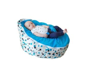 BayB Brand Baby Bean Bag - Filled - Ships in 24 Hours! (BlueMulti)