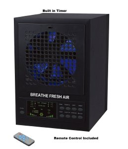 Breathe Fresh 5-in-1 Air Purifier w UV, Ozone Power, Ionizer Odor Reducer, PCO Filtration Cleaning
