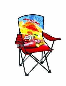 Disney Youth Cars Folding Chair with Armrest and Cup Holder
