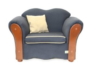 KEET Homey VIP Organic Kid's Chair, Navy Blue