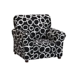 Kidzworld Kids Children Freehand - BlackWhite Club Chair Alone