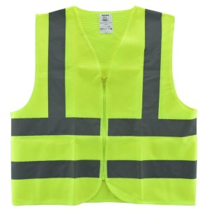 Neiko® 53940A High Visibility Safety Vest, ANSI ISEA Standard Color Neon Yellow Size M