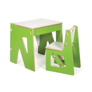 Sprout Kids Desk (With Chair, Green)