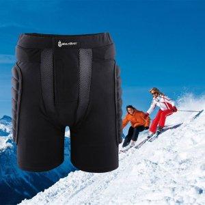 docooler 3D Padded Short Protective Hip Butt Pad Ski Skate Snowboard Skating Skiing Protection Drop Resistance Roller Compression Shorts Pants