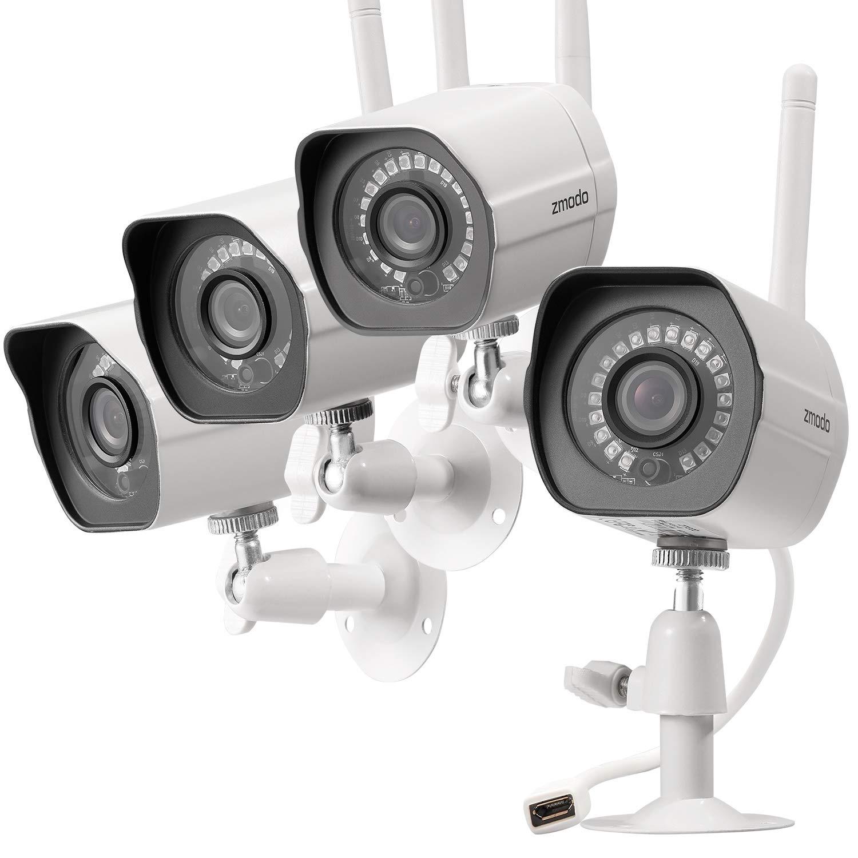 System Security 6 Camera Surveillance Cameras Wireless