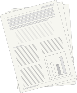 papers with graph and writing