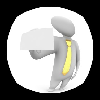 illustration of a person with a yellow tie through the door peephole
