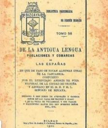 """Acerca de la obra lingüística y filológica: """"De la antigua lengua, poblaciones y comarcas de las Españas"""" (1857)"""